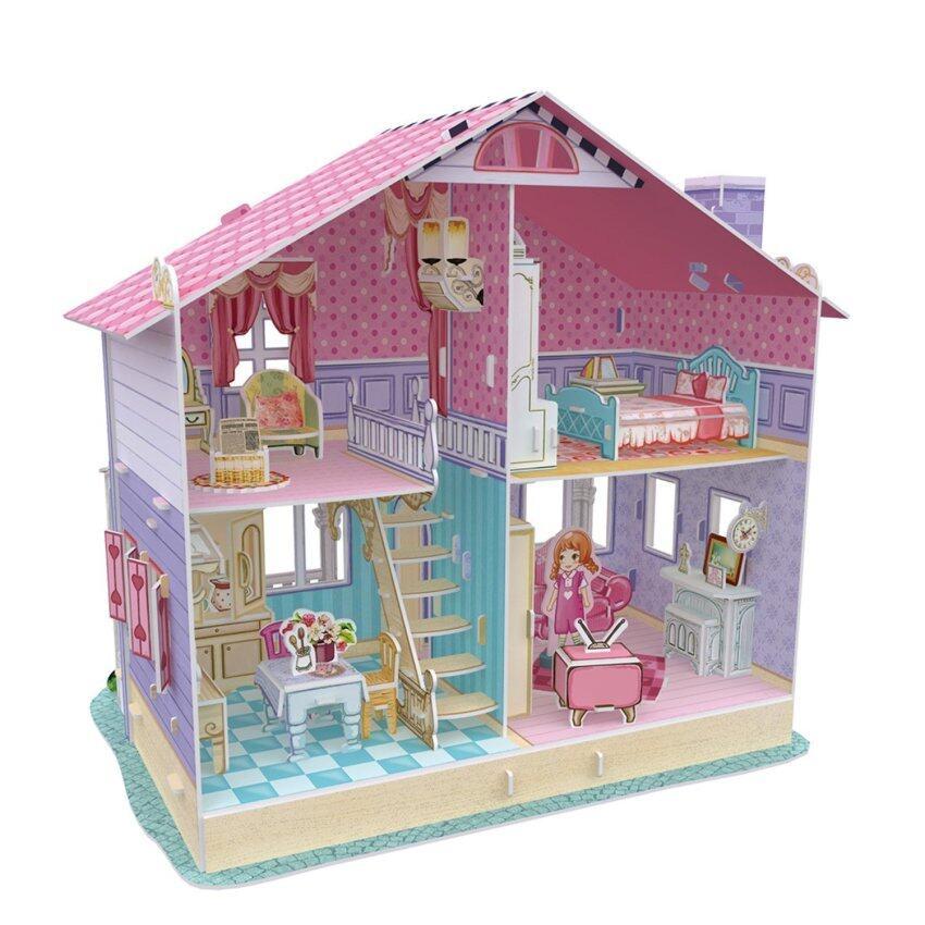 Cubic Fun 3D Puzzle Dream Dollhouse - Carrie's Home โมเดล จิ๊กซอว์ 3 มิติ บ้านตุ๊กตา 93 ชิ้น image