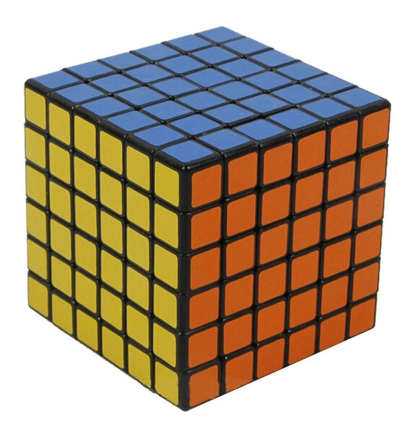cushan Shengshou 6x6x6 PVC Sticker Brain Toy Rubik's Cube Puzzle Cube,Black - intl