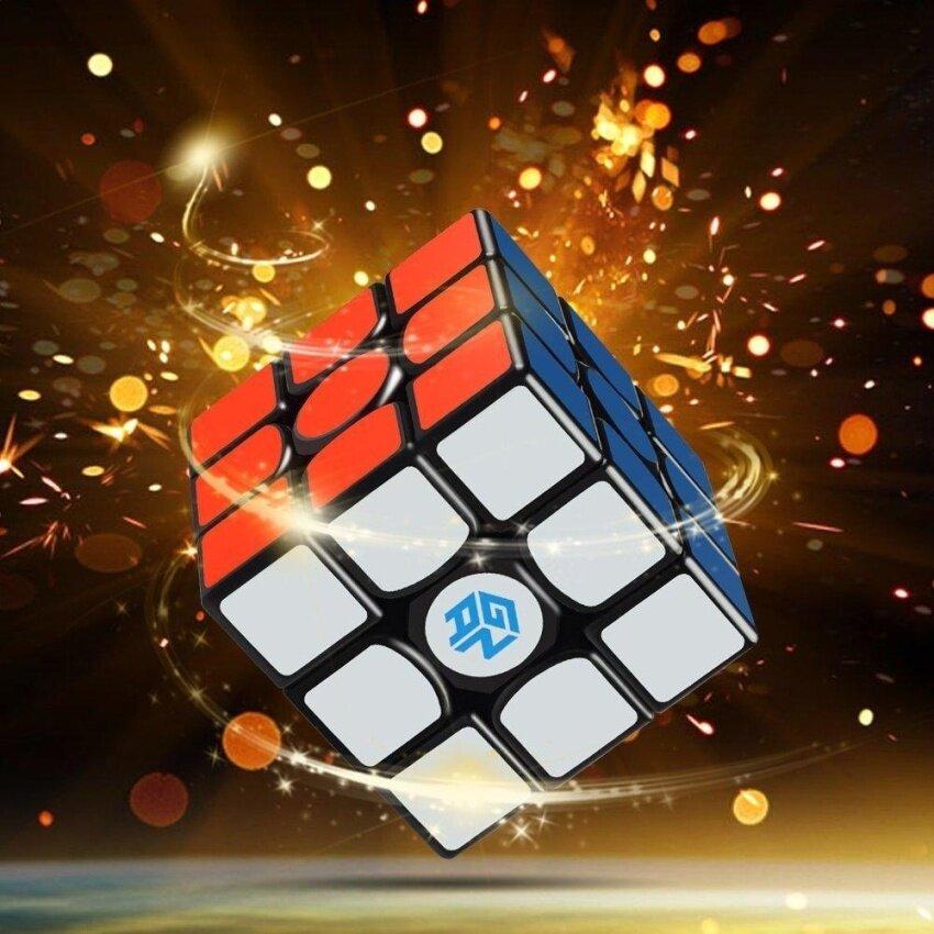 D-FantiX Gans 356 Air Master 3x3 Speed Cube(Includes 9 Giveaways), Gan 356 Air Magic Cube Puzzles Black with New Blue Cores - intl