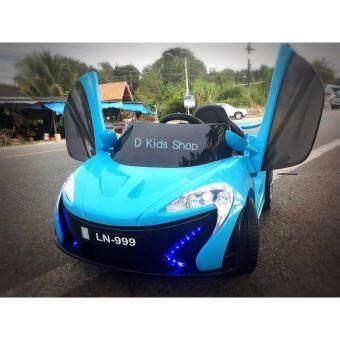 D Kids รถแบตเตอรี่ รถเด็กนั่งไฟฟ้า รถเด็กเล่นบังคับวิทยุ เฟอรรารี่โมเดล ประตูสวยแบบปีกนก2 Motors- สีฟ้า