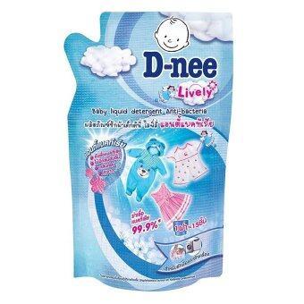 ขายยกลัง! D-nee น้ำยาซักผ้าเด็ก ไลฟ์ลี่ แอนตี้แบคทีเรีย ชนิดเติม ขนาด 600 มล. (12 ถุง/ลัง)