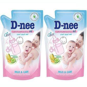 D-Nee น้ำยาล้างขวดนมและจุกนม แบบชนิดเติม 600 มล.แพ๊ค 2