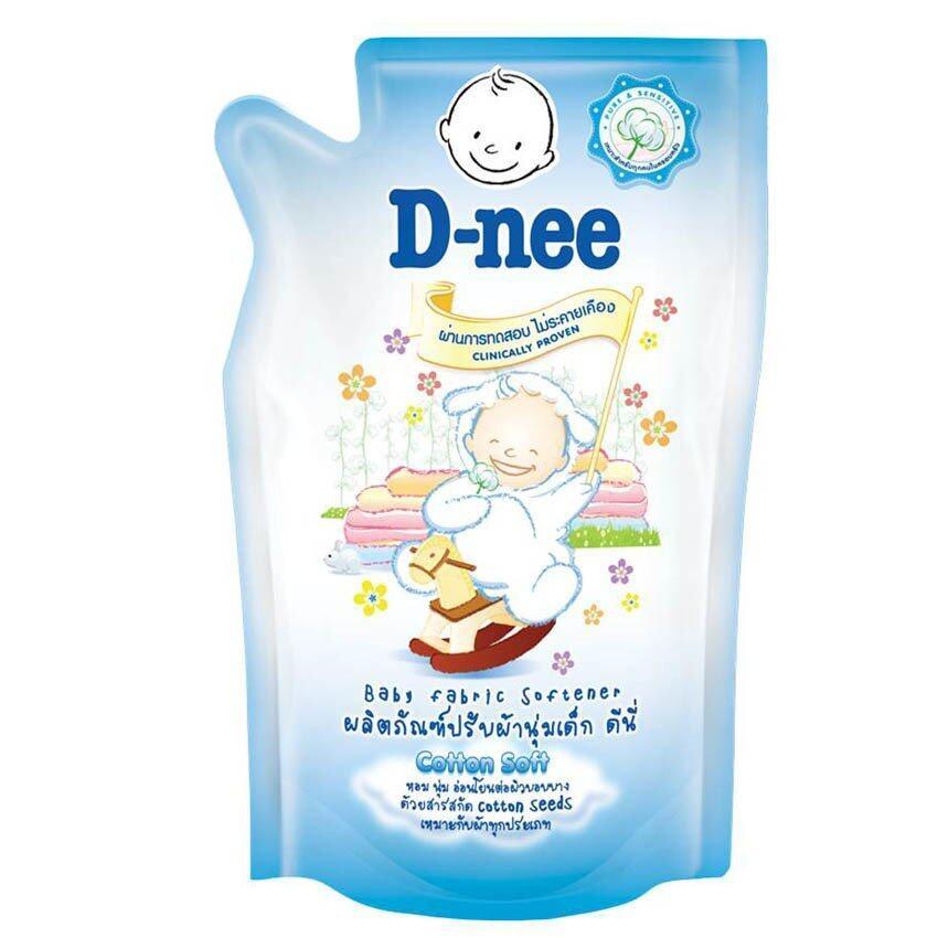 ขายยกลัง! D-nee น้ำยาปรับผ้านุ่ม กลิ่น Cotton soft ชนิดเติม ขนาด 600 มล. (12 ถุง/ลัง)