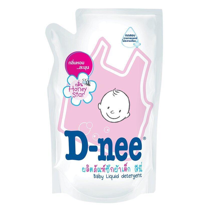 D-nee น้ำยาซักผ้าเด็ก กลิ่น Honey Star ชนิดเติม ขนาด 600 มล. (แพ็ค 3)