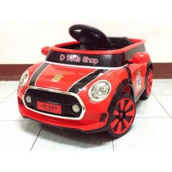 รถแบตเตอรี่เด็ก รถเด็กนั่งมินิ รถมินิคูเปอร์ บังคับวิทยุด้วยรีโมทและขับธรรมดา D03
