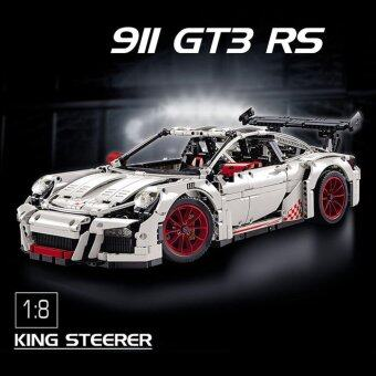 Decool Technic ตัวต่อรถ Porsche 911 GT3 RS สีขาว 2 709 ชิ้น