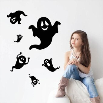 Decoration Happy Halloween Wall Sticker Removable Waterproof Decal Home Living Room Decor - intl
