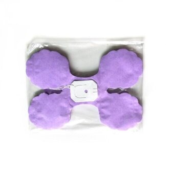Diotem Lucky Four Leaf Papyrus Flower Wedding Decoration - Purple -intl