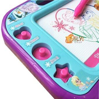 Disney Frozen Frozen Drawing Board กระดานวาดรูปเเม่เหล็กโฟรเซ่น 4สี เขียนเเล้วลบได้ (image 2)