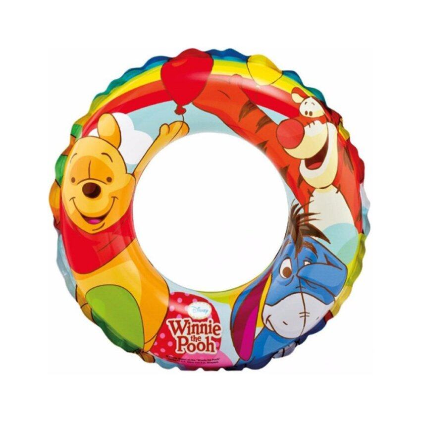 Disney Pooh Swim Ring Size20, Age3-6 ห่วงยางว่ายน้ำเป่าลม ลายหมีพูห์ ขนาด20นิ้ว 58228 ดีสนีย์แท้ ลิขสิทธิ์แท้