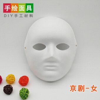 DIY เยื่อสีขาวหน้ากากภาพวาดมือวาด