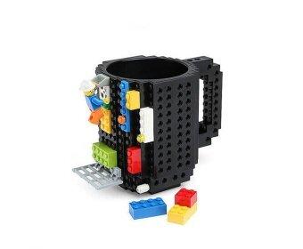 DIY Creative อิฐ LEGO ปริศนา MUG Coffee CUP Build-ON Build