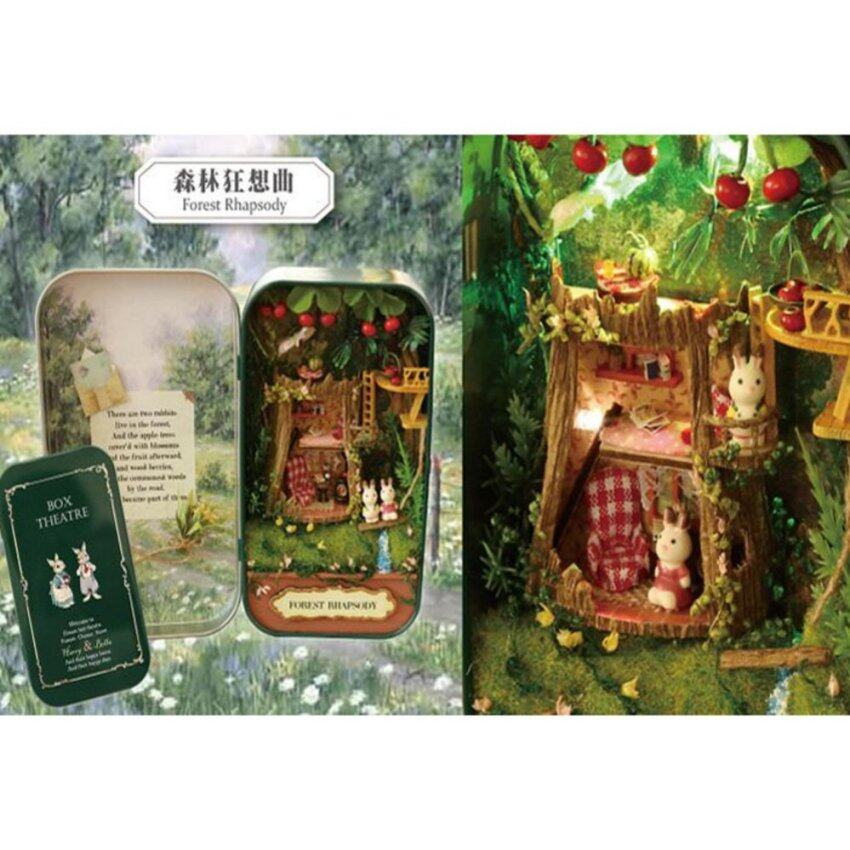 DIY Hut Box Theater Forest Rhapsody Doll House 3D Miniature Hand-assembled House Model Toys - intl
