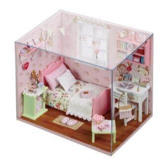 DIY Sunshine Angel Bedroom ชุดห้องนอนแห่งความสุข พร้อมอุปกรณ์ไฟและอะคริลิกกันฝุ่น