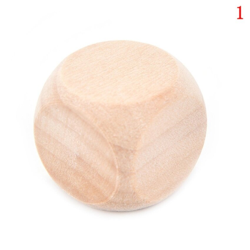 DIY Wooden Dice Creative Can Make Multi-faceted Dice Bar Game Props Wood Fun Sieve size :1.8cm - intl