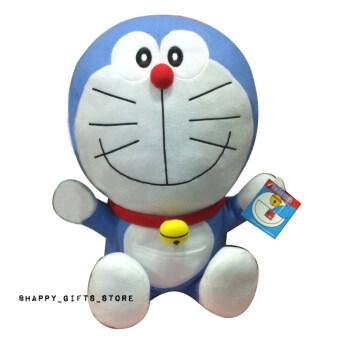 Doraemon ตุ๊กตา โดเรม่อน ท่านั่ง 16 นิ้ว ผ้าทีคอต (สีฟ้า) (image 0)