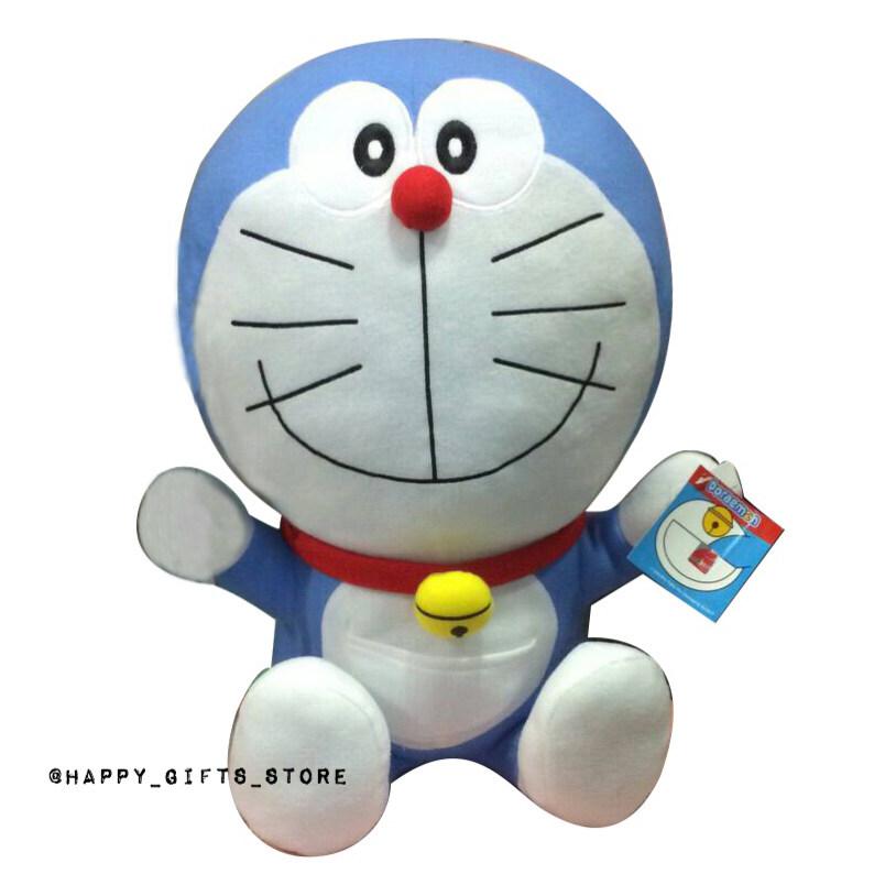Doraemon ตุ๊กตา โดเรม่อน ท่านั่ง 16 นิ้ว ผ้าทีคอต (สีฟ้า)