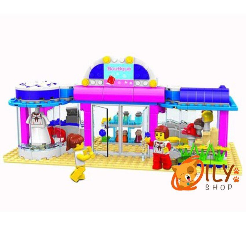 DR.LUCK City Girl ชุดตัวต่อเลโก้ ร้านเสื้อผ้า image