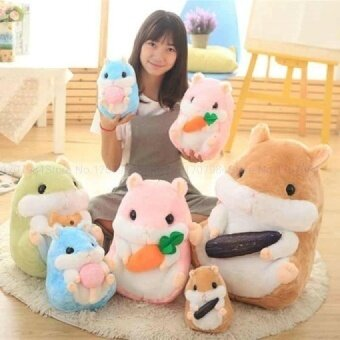 Drop Shipping 22-45cm Cute Hamster plush toys children birthday girl lovely mouse Plush Cloth pillow kids toys pink/blue/green - intl