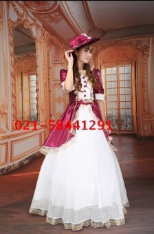 DwC เจ้าหญิงชุดแฟนซีปาร์ตี้กษัตริย์ GONGTING เสื้อผ้า