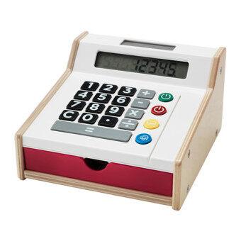 เครื่องแคชเชียร์ช่วยคิดเงินเป็นของเล่นสำหรับเป็นของเล่นเสริมพัฒนาการสำหรับเด็ก เหมาะกับทั้งเด็กผู้หญิง เด็กผู้ชาย หรือเป็นเครื่องคิดเลขสำหรับผู้ใหญ่