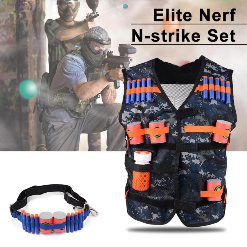 ชุดเสื้อกั๊ก กระเป๋า Elite Tactical Bullet Vest Target Pouch สำหรับ Nerf N-strike Elite Series Toy
