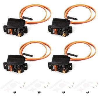 Harga EMAX ES08MAII 4pcs 12g Mini Metal Gear Analog Servo Upgrade for 450RC Helicopter Airplane 1.8kg