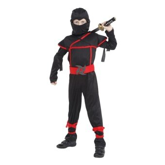 EOZY Halloween Kids Boys Stealth Ninja Costumes Halloween PartyChildren Assassin Cosplay Costume Stage Performance Apparel Size L- intl
