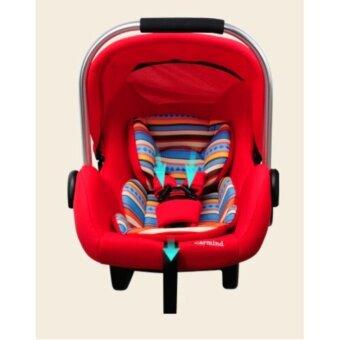 EXCEED คาร์ซีท (car seat) Red Colour ที่นั่งในรถยนต์แบบกระเช้า Carmind สำหรับเด็ก0-15เดือน ขนาด 70x41x33 สีแดง