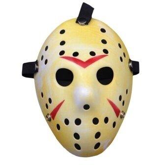 Fade Yellow Jason Mask Halloween Custume Ballparty Horror Funny Cosplay Face Mask - intl
