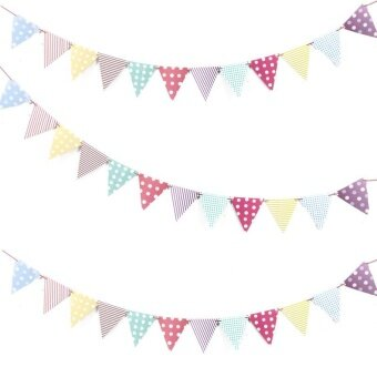 Fashion Party Dress Up Item Birthday Flag Banner Banner BannerDecoration Pink triangle flag - intl