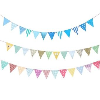 Fashion Party Dress Up Item Birthday Flag Banner Banner BannerDecoration Yellow bird - intl