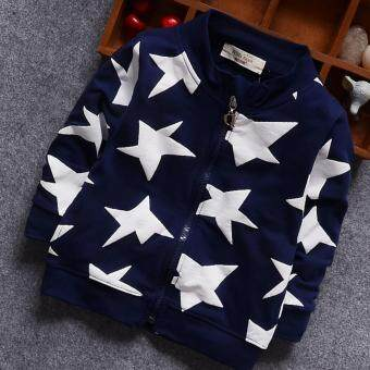 Fashion Spring Star Printed Baby Boys Clothing Coat and Jackets -intl
