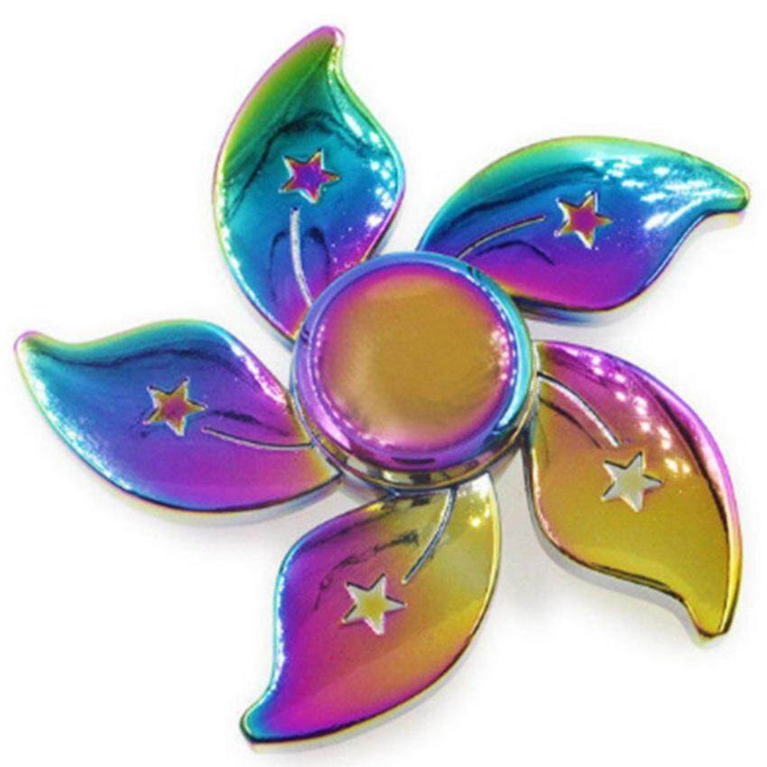 Fidget Spinner Flower Rainbow 5 แฉก V11