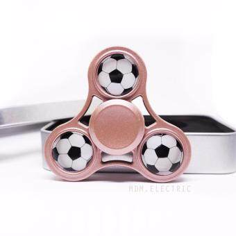Fidget Spinner - ฟุตบอล Football Hand Spinner อัลลอย อย่างดี สีชมพู
