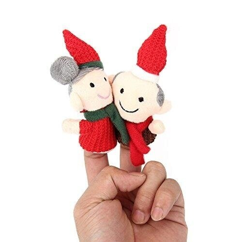 Finger Puppets Finger toys,Danibos 6pcs Christmas Set family set Soft Plush Family Puppets Baby Stories Helper, Finger Puppets Finger Toys Set ,Christmas Gift for kids(finger toy family) - intl