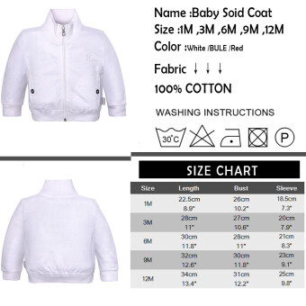 For 1M Baby White Color Button Cotton Long-Sleeve Caterstory CasualAll season - intl - 2