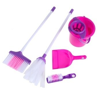 Fun Cleaning Play Set Kids Girls Housekeeping Pink Sweepeducational Toy - intl