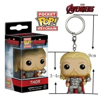 Funk POP The Avengers Thor Hulk Bat Man Iron Man Deadpool KeychainAction Figure Toys For Baby Kids Gifts(Multicolor)(OVERSEAS) - intl