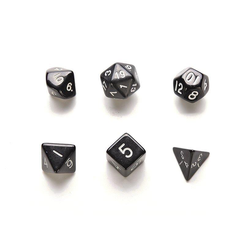ขาย Game Dice Set for Dungeons and Dragons 6 Pcs Black - intl