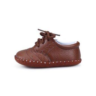 Genuine Leather Baby Boys Girls Shoes Moccasins First Walker\n(Brown) - intl