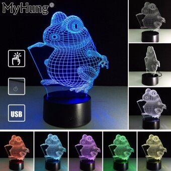 Gifts For Kids Funny Frog 3D lights Lamb Creative Holiday GiftsRomatic 3D Lights Touch Switch Lamp Acrylic Visual Party Decor UsbChanger - intl