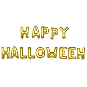 Gold Happy Halloween Decor Balloons Kit Halloween Party DecorAccessory Supplies - intl