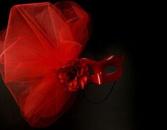 Halloween สีแดงขนาดใหญ่ความงามฮาโลวีนโอ้อวดหน้ากาก