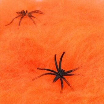 Halloween Cotton Spider Gridding Cobweb Prop Bar Decor Scary HorrorSpooky - intl
