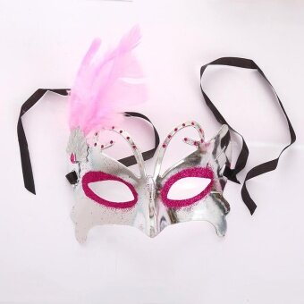 Halloween Feather Christmas Masquerade Ball Dance Party CarnivalEye Mask - intl