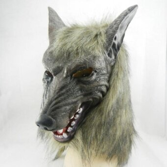 Halloween Funny Mask Super Adorable Wolf Head Mask Latex AnimalCostume Toys - intl