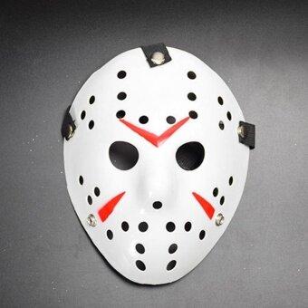 Halloween Horror Hockey Face Fancy Dress Helmet Costume CosplayKiller Mask Prop - intl