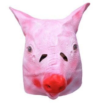 Halloween Magical Creepy Adult Pig Head Latex Rubber Maskanimal Costume Prop Toys - intl
