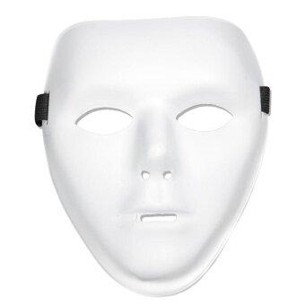 Halloween Mask White Full Face For Horror Fan Dance Crew PlasticCostume Mask - intl